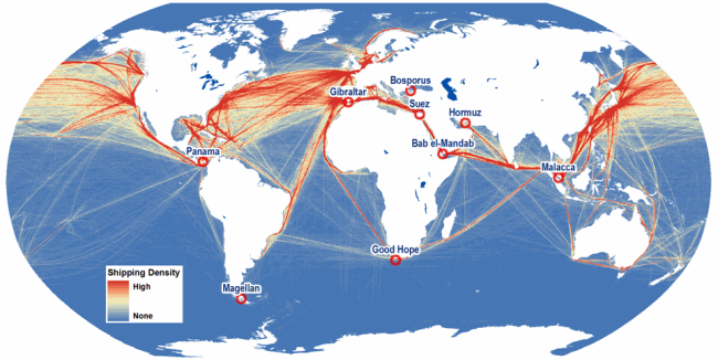 US Seeking Military Presence In The Maldives - International shipping routes map to us