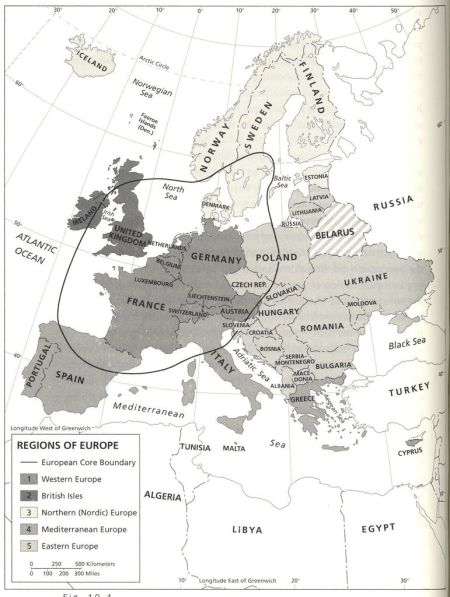 Harm de Blij's Functional Core of Europe from WGM I