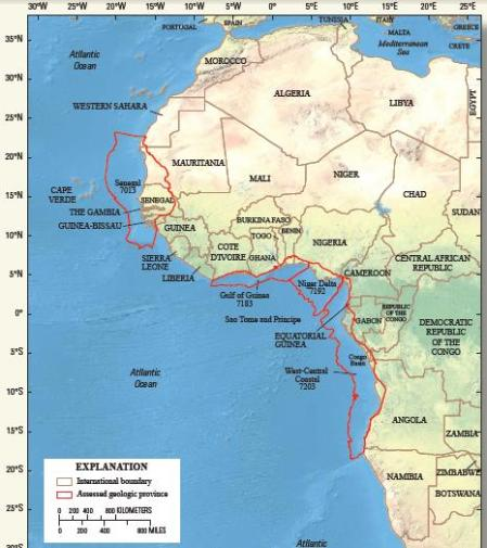 West Africa Oil Regions
