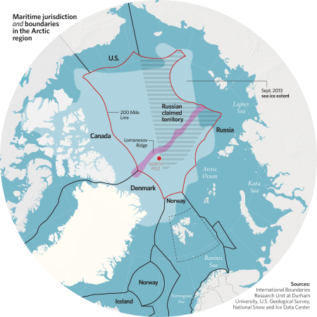 Arctic jurisdictional boundaries
